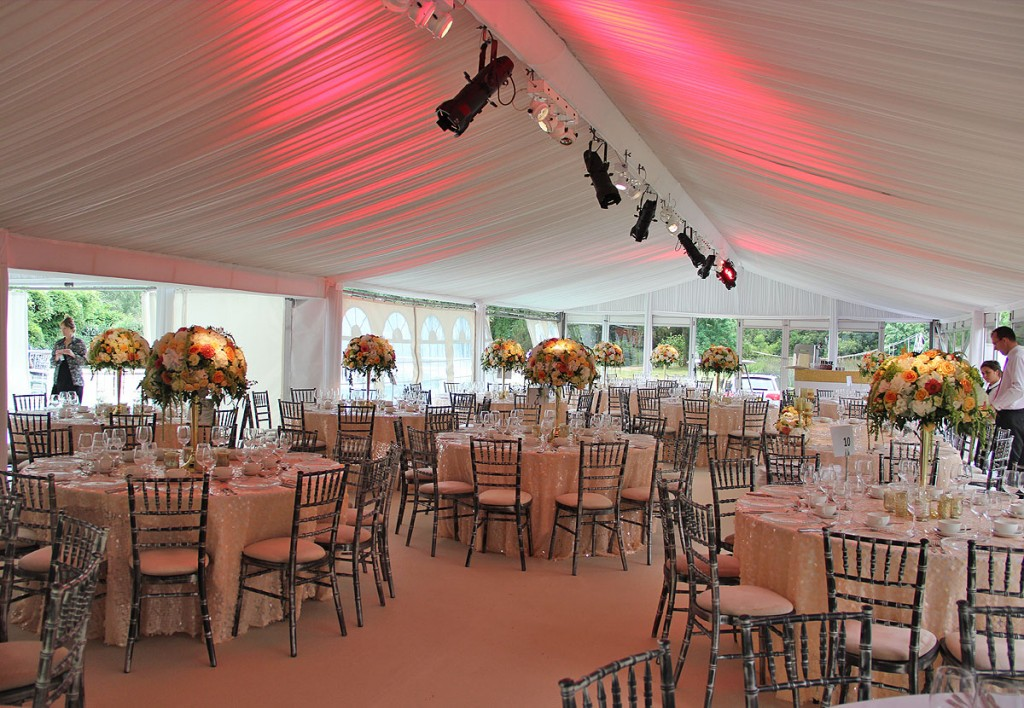 The Buckinghamshire Golf Club Wedding Marquee